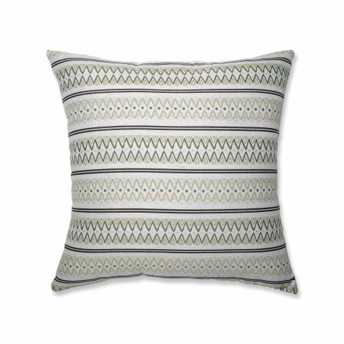 "24.5"" Green and White Chevron Print Square Floor Pillow - IMAGE 1"