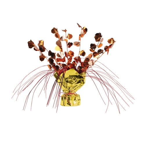 "Club Pack of 12 Acorn Gleam 'n Burst Fall Leaves Centerpiece Decoration 11"" - IMAGE 1"