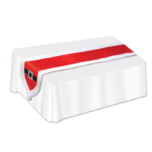 """Club Pack of 12 Red and White Santa Suit Christmas Table Runners 69"""" - IMAGE 1"""