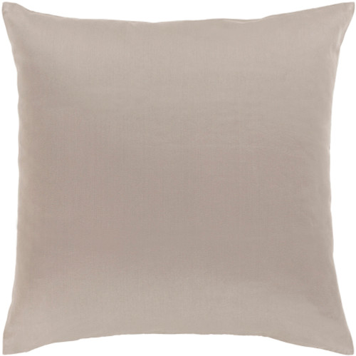 """22"""" Taupe Gray Woven Decorative Throw Pillow - Down Filler - IMAGE 1"""