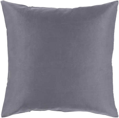 "22"" Charcoal Gray Woven Decorative Throw Pillow - Down Filler - IMAGE 1"