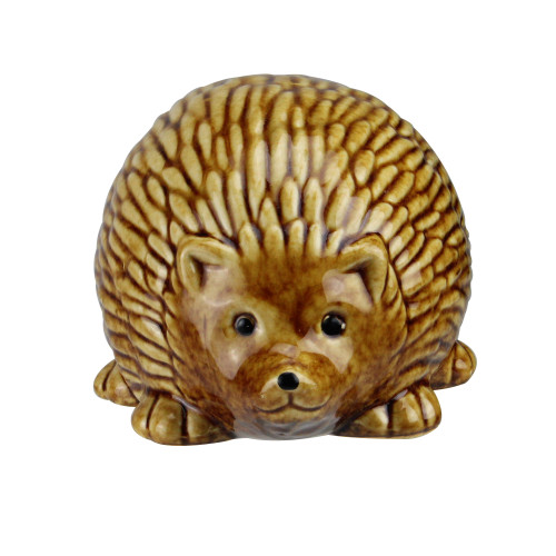 "3.5"" Pudgy Pals Relaxed Spined Tan Porcelain Hedgehog Table Top and Garden Figure - IMAGE 1"