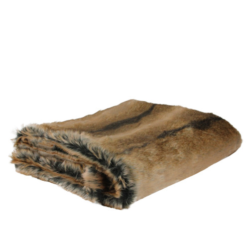"""Tawny Brown Contemporary Throw Blanket 50"""" x 60"""" - IMAGE 1"""