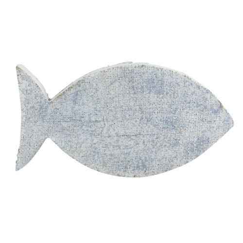 """10.6"""" Cape Cod Inspired Table Top White and Blue Fish Decoration - IMAGE 1"""