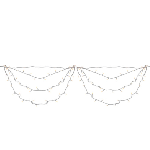 150ct Clear Swag LED Christmas Light - White Wire - IMAGE 1
