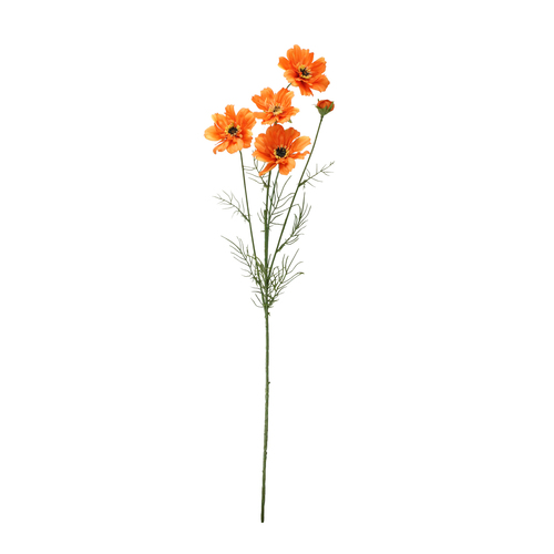 """32"""" Orange Cosmos Flower Artificial Floral Spray - IMAGE 1"""