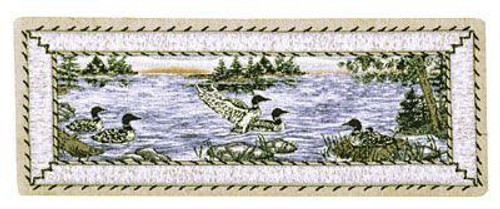 """Loons Decorative Table Runner 12.5"""" x 36"""" - IMAGE 1"""