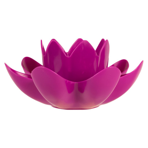 """7.5"""" Magenta Hydro Tools Swimming Pool or Spa Floating Flower Candle Light - IMAGE 1"""