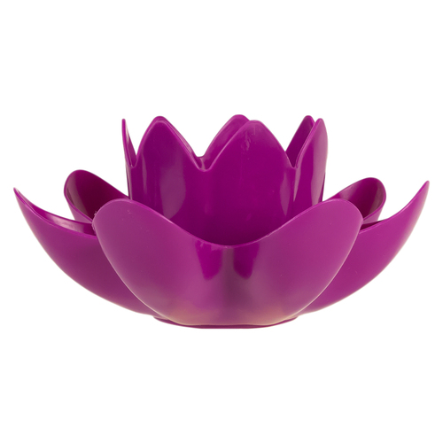 7.5-Inch Magenta Hydro Tools Pool or Spa Floating Flower Candle Light - IMAGE 1