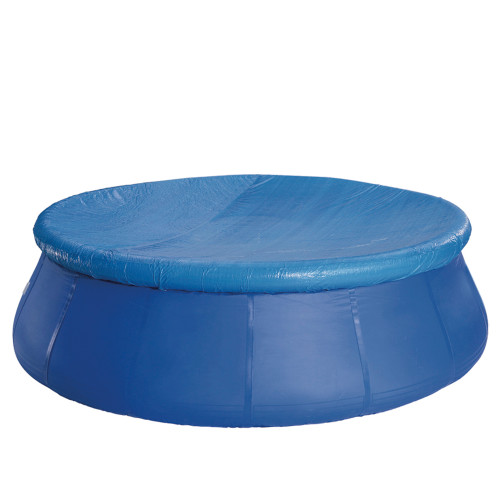 Blue Durable Apertured Round Prompt Set Swimming Pool Cover with Rope Ties 15.75' - IMAGE 1