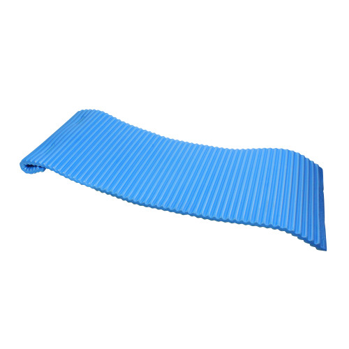 70-Inch Blue Portable Rippled Foam Swimming Pool Mattress Raft - IMAGE 1