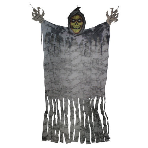 11' Eerie Grim Reaper with Large Hands Hanging Halloween Figurine - IMAGE 1