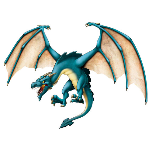 Club Pack of 12 Blue and Yellow Jointed Dragon Cutouts 4' - IMAGE 1