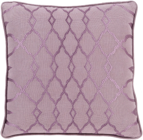 "20""Periwinkle and Mauve Purple Diamond Handmade Decorative Throw Pillow  - Down Filler - IMAGE 1"