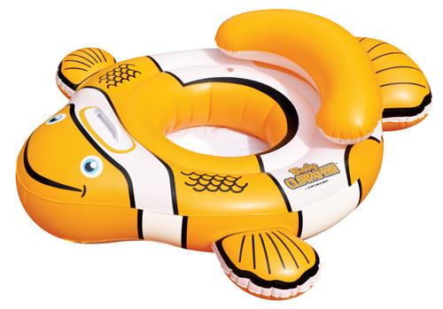 40'' Orange and White Inflatable Clownfish Baby Pool Float - IMAGE 1
