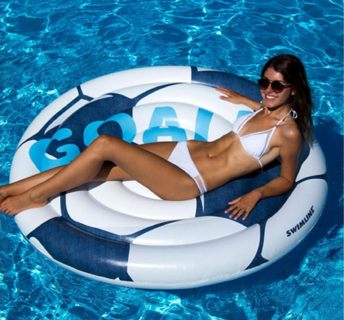 """60"""" Inflatable Giant Soccer Ball Swimming Pool Float - IMAGE 1"""