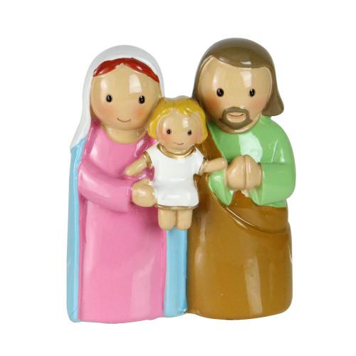 "3"" Religious Holy Family Jesus, Mary and Joseph Figurine - IMAGE 1"