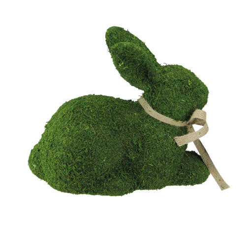 """11"""" Green Moss Sitting Bunny Rabbit Spring Easter Figure - IMAGE 1"""