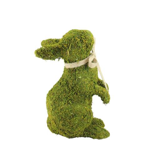 "10.5"" Green Moss Standing Bunny Rabbit Spring Easter Figure - IMAGE 1"