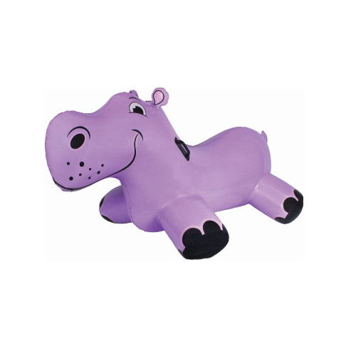 "69"" Inflatable Purple Happy Hippo Rider Swimming Pool Float - IMAGE 1"
