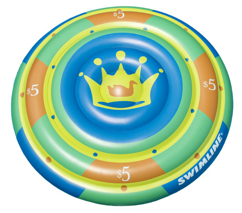 """Inflatable High Roller Chip Island Lounge Pool Float Ages 13 and Up 60"""" - IMAGE 1"""