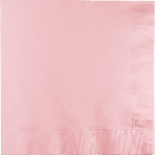 "Club Pack of 240 Bubblegum Pink Square Disposable Beverage Napkins 6.5"" - IMAGE 1"