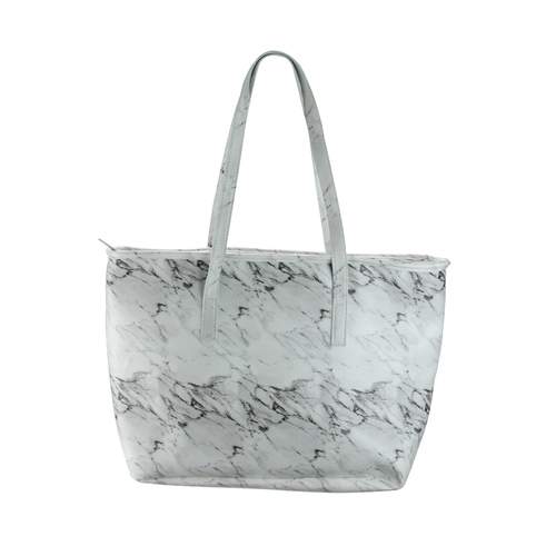 """17"""" Iceware White Marble Insulated Lunch Tote Bag - IMAGE 1"""