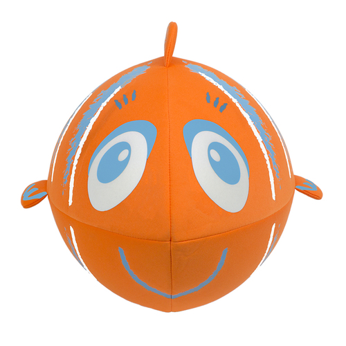 Inflatable Orange and Blue Fish Swimming Pool and Beach Ball, 27-Inch - IMAGE 1