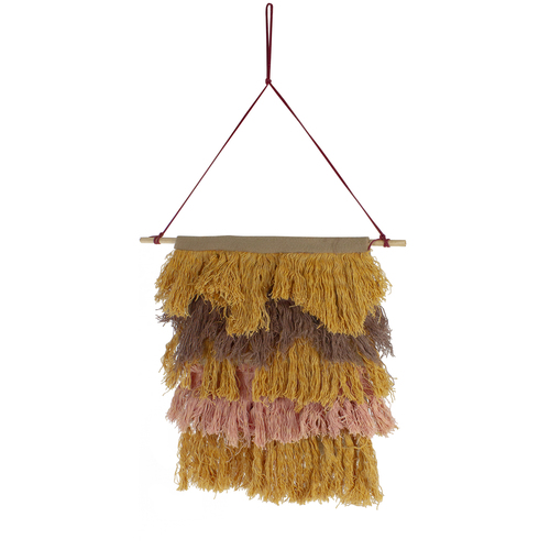 """13"""" Rustic Neutral Tones Miniature String Shade Wall Art Decoration - IMAGE 1"""