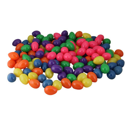 "Pack of 150 Vibrantly Colored Springtime Easter Egg Decorations 2.5"" - IMAGE 1"