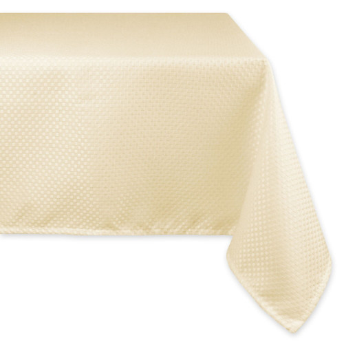 10' Extra Large Natural Pale Gold Bead Inspired Polyester Tablecloth - IMAGE 1