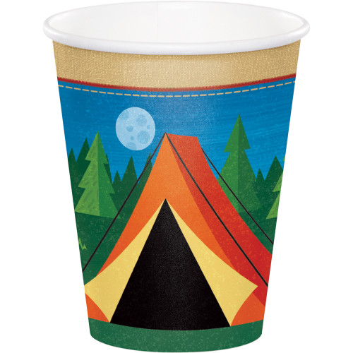 """Club Pack of 96 Blue and Green Camp Out Disposable Cups 3.50"""" - IMAGE 1"""