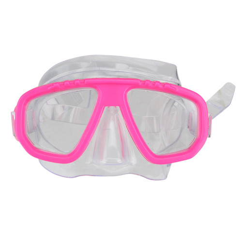 "6.75"" Vibrant Pink and Clear Newport Recreational Swim Mask for Children - IMAGE 1"
