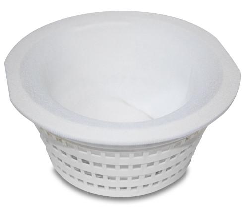 Set of 5 White Basket Buddy One Size Pool Filter System Saver Skimmer Socks - IMAGE 1