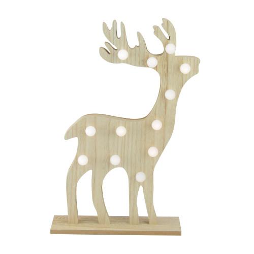 "15.75"" Pre-Lit Brown Battery Operated LED Reindeer Christmas Figurine - IMAGE 1"