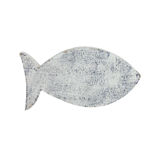 """9"""" White and Blue Cape Cod Inspired Fish Table Top Decoration - IMAGE 1"""