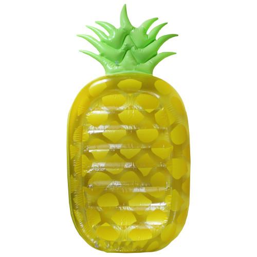 6.25' Inflatable Yellow Jumbo Pineapple Swimming Pool Mattress - IMAGE 1