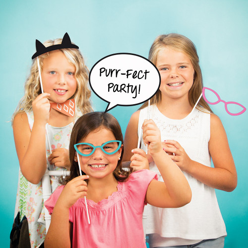 """Club Pack of 60 Blue and Black Party Fun Photo Booth Props 15"""" - IMAGE 1"""