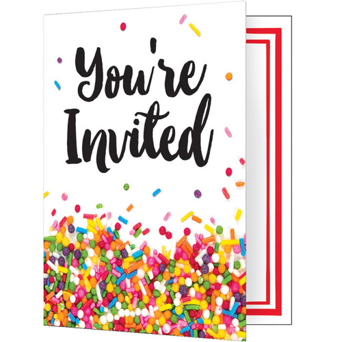 """Club Pack of 48 White """"You're Invited"""" Party Invitations 4.75"""" - IMAGE 1"""