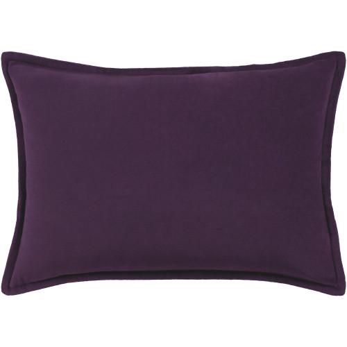 "13"" x 19"" Calma Semplicita Eggplant Purple Decorative Throw Pillow - Down Filler - IMAGE 1"