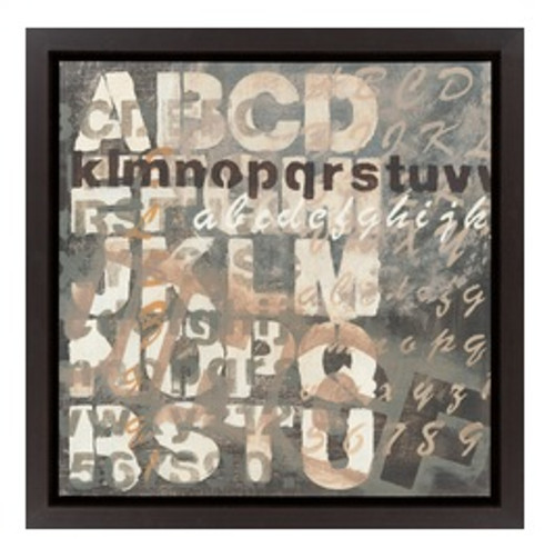 """27"""" Contemporary Urban Typography Painting Canvas Framed Wall Art - IMAGE 1"""