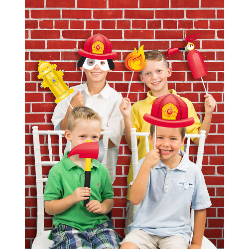 """Pack of 6 Red and White Brick Printed Photo Backdrop 72"""" - IMAGE 1"""