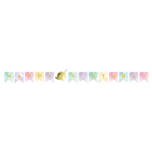 """Club Pack of 12 Pink and Purple Birthday Party Banner with Twine 66"""" - IMAGE 1"""
