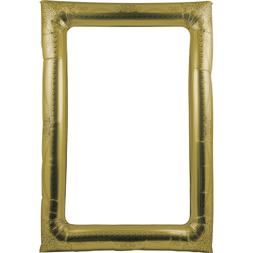 """Club Pack of 6 Gold Antique Party Balloon Rectangular Picture Frame 32"""" - IMAGE 1"""