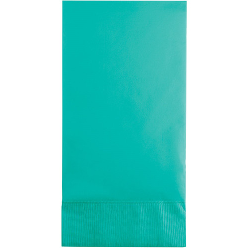 Club Pack of 192 Teal Premium 3-Ply Disposable Guest Towel - IMAGE 1