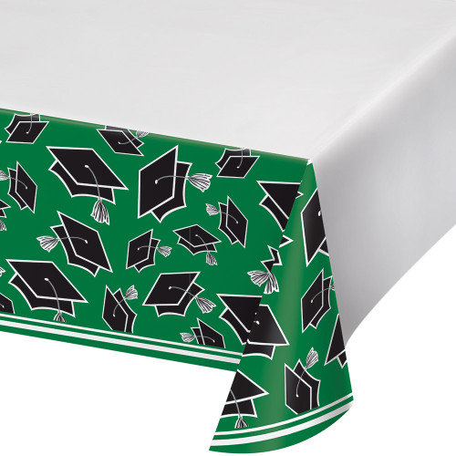 """Club Pack of 12 Green and Black School Spirit Table Cover 102"""" - IMAGE 1"""