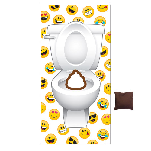 """Pack of 6 White and Yellow Show Your Emoji Beanbag Door Toss Game 10.75"""" - IMAGE 1"""