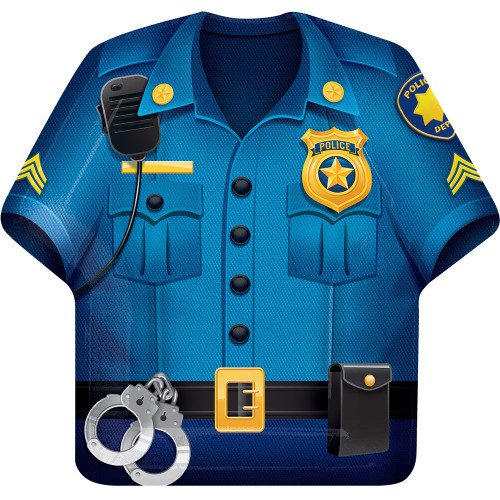 """Club Pack of 96 Blue and Yellow Police Dress Lucheon Disposable Plates 9.75"""" - IMAGE 1"""