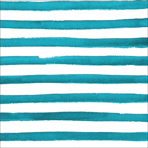 """Club Pack of 192 Sea Blue Dotted and Striped Disposable Luncheon Napkin 6.5"""" - IMAGE 1"""