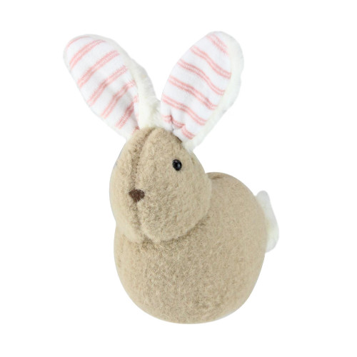 """9"""" Tawny Brown and White Plush Rabbit Easter Tabletop Figurine - IMAGE 1"""